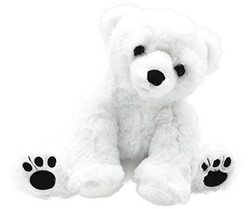 Möbelbörse Kuscheltier Eisbär Stofftier Plüschbär Polarbär Plüschtier Teddy Bär Spielzeug Polar Bear | Weiß | Samtig Weich | 28cm