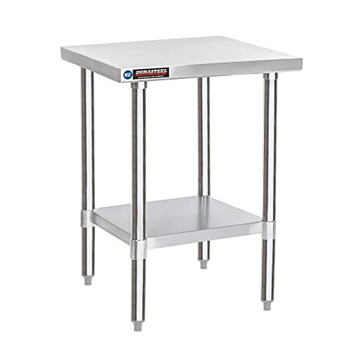DuraSteel Stainless Steel Work Table 30' x 18' x 34' Height - Food Prep Commercial Grade Worktable - NSF Certified - Fits for use in Restaurant, Business, Warehouse, Home, Kitchen, Garage