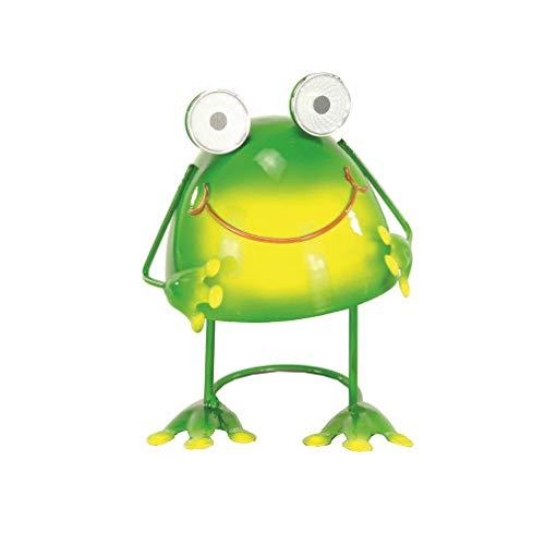 Gartenfigur Frosch mit Solaraugen aus Metall und Wackelfunktion Froschfigur Dekofrosch Froschdekofigur Dekofigur Frosch Solarfrosch Solarfigur für den Garten Metallfrosch
