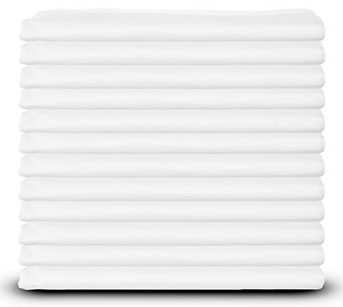 Elite White Pillowcases, Standard Size, T-180 Percale, 12-Pack