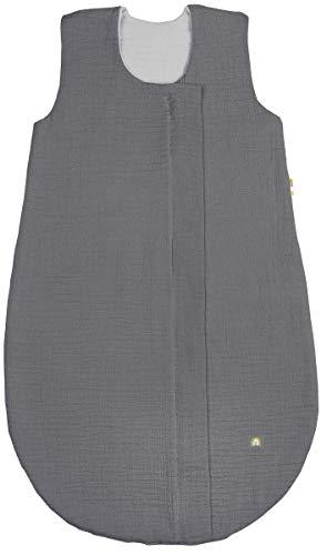 Odenwälder BabyNest Sommer-Schlafsack | Babyschlafsack ohne Ärmel | Kinderschlafsack ab 0 Monate | Sommerschlafsack atmungsaktiv & pflegeleicht | Baby-Schlafsack mit Reissverschlussschutz
