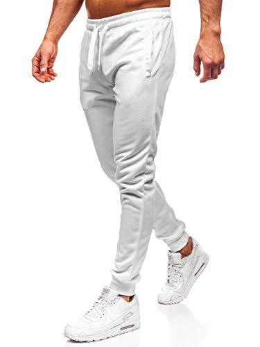 BOLF Hombre Pantalón De Chándal Jogger Pantalón de Algodón Fitness Entrenamiento Slim Fit Estilo Deportivo 6F6