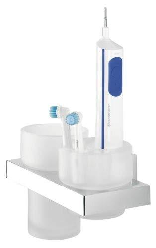 Tiger Items Dental set, houder voor elektrische tandenborstels, roestvrij staal verchroomd