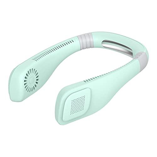 Ventilador de cuello sin cuchilla, ventilador deportivo de 360 grados, ventilador de refrigeración manos libres, mini ventilador personal USB, refrigerador de aire de diseño...