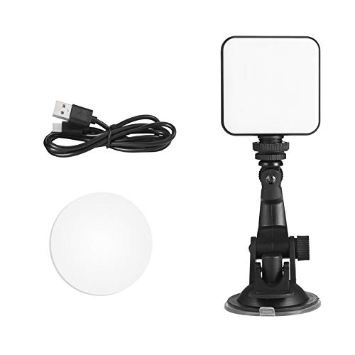 Sheuiossry LED Fill Light, Mobile Selfie Lights with Dimmable Zoom, USB Rechargeable and Strong Suction, Suitable for Video Conference Photography and So On, Battery Operated