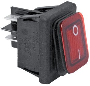 Elcart Interruttore BIPOLARE Luminoso Resistente all'Acqua IP 65