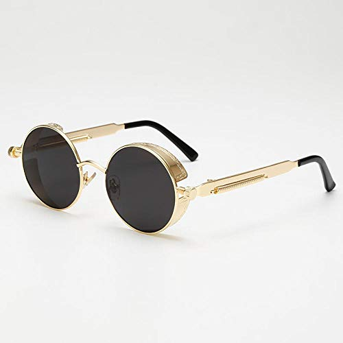 Sunglasses Mode Runde Steampunk Sonnenbrille Design Frauen Männer Vintage Steam Punk Sonnenbrille Uv400 Shades 01