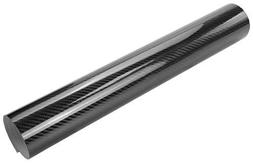7€/m² Auto Folie - 5D Hochglanz Carbon Folie schwarz glanz - 200 x 150 cm selbstklebend BLASENFREI Car Wrapping Klebefolie