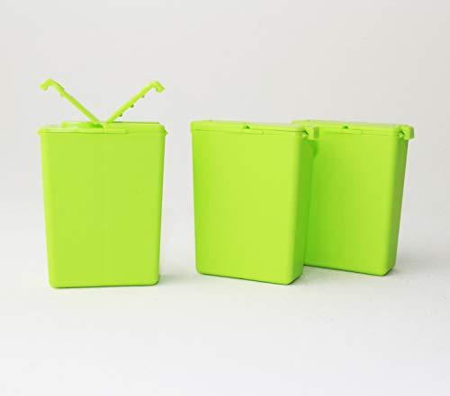 Tupperware to Go 3X Würzling 25ml grün C72 Salzstreuer Pfeffer/Salz Streuer + Geschenk Zahnbürstenschutz
