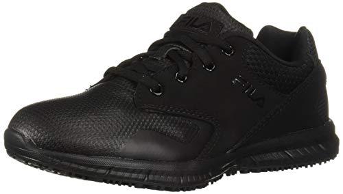 Fila womens Memory Layers Slip Resistant Work Food Service Shoe, Black, 8.5 US