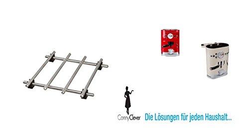 """IKEA Topfuntersetzer \""""Lämplig\"""" Pfannenuntersetzer aus Edelstahl - mit Gummi-Füßen - 18 x 18 cm + Conny Clever® Aromadose Kaffeedose 500gr. rot"""