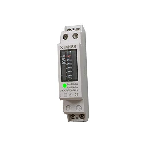 JVJ 230V 5(32) A kWh-Meter Einphasen 1 Phase Stromzähler Wattmeter KWH Hutschiene A DIN Rail