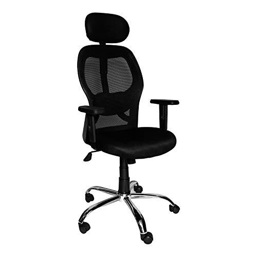 cellbell® chromium steel c100 mesh high-back office chair/computer chair/desk chair[black]