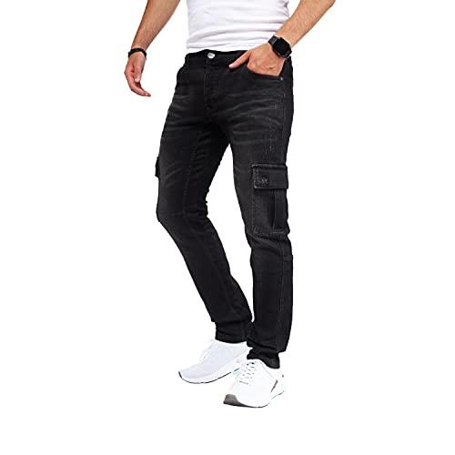 Styleko Herren Cargo Jeans Hose Herren Jeans...
