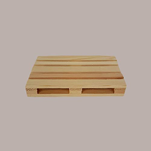 Banco de madera natural 24 x 16 x 3,5 cm