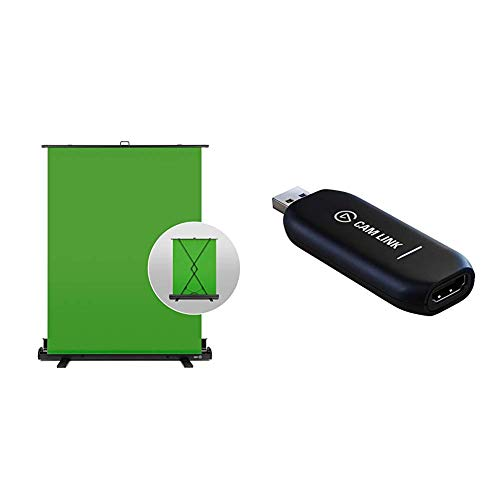 Corsair Elgato Green Screen Ausfahrbares Chroma-Key-Panel + Elgato Cam Link 4K, Live-Streamen und Aufnehmen mit DSLR