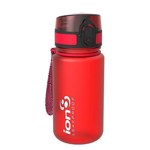 Ion8 Auslaufsichere Kinder Trinkflasche, BPA-frei, Scharlachrot