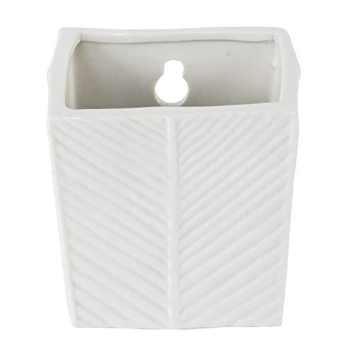 Room Ando humidificador raumbefeuchter Square Pot de cerámica para Colgar con Gancho de Metal en Color Blanco