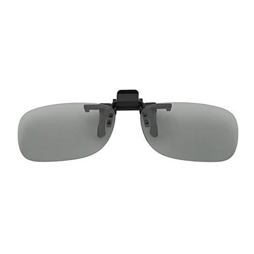 sahnah Clip On Passive Circular Polarized 3D Glasses Clip for LG 3D TV Cinema Film