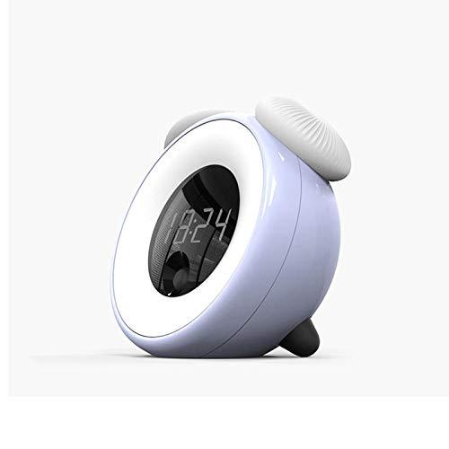Wekker met lichte wekker, Intelligente getimede slaapkamer Nachtkastlamp Lamp Spaarlamp Led-sensor Wekker Kinderen, Volwassenen, Zware slapers, Thuis
