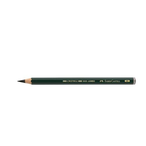Faber-Castell 119308 - Bleistift Castell 9000 Jumbo, Härtegrad 8B