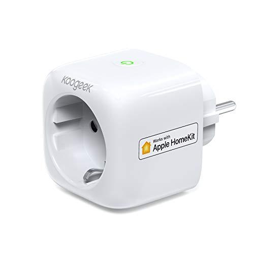 Koogeek Enchufe Inteligente,Compatible con Homekit,Alexa,Google Assistant,Enchufe Wifi con Aplicación de Control Remoto,Control de Voz,No Necesita Concentrador