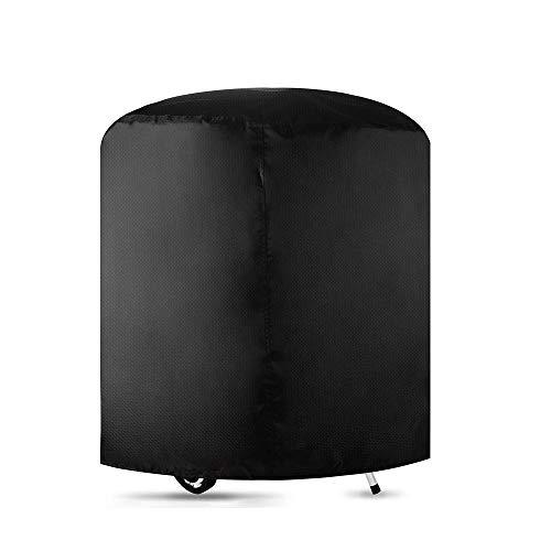 YROZ Housse pour Barbecue Rond, Rond Housse Bâche de Protection BBQ Couverture Anti-poussière Anti-UV Anti-Pluie avec Sac de Rangement, Hauteur 71x Diamètre 73 cm (Noir)