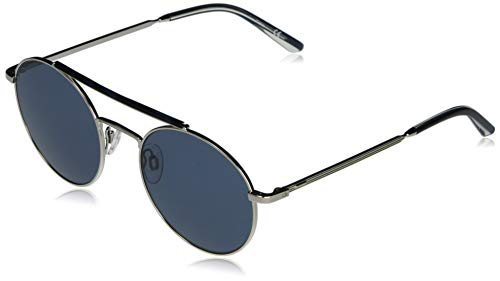 Calvin Klein EYEWEAR CK20131S-045 Gafas, Silver/Solid Blue, 53-21-145 Unisex Adulto