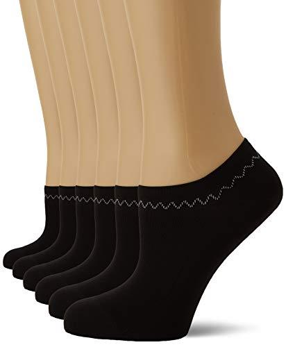 Nur Die Damen 6Er Feines Schuhsöckchen Füßlinge, Schwarz (SCHWARZ 94), 39/42 (Herstellergröße:39-42) Pack