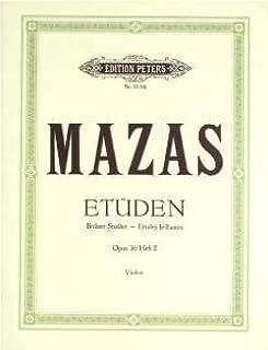 ETUEDEN 2 OP 36 - gearrangeerd voor viool [noten / Sheetmusic] Componist: MAZAS JACQUES FEREOL
