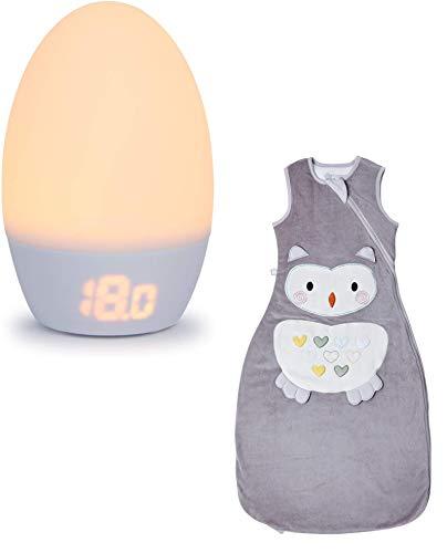 Tommee Tippee Groegg2 - Termómetro para habitación con luz nocturna y saco de dormir original Grobag TOG 1 Ollie the Owl, Bundle