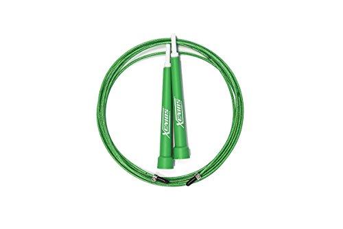 Xenios USA XSPJPRP01GR Combas-Cuerda para Saltar Ajustable - Ultra-Speed Jump Rope