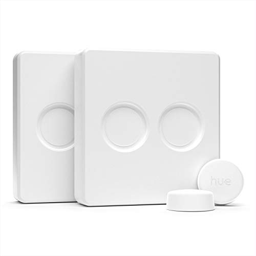 IYOKI Hue Switch Cover for Philips Hue Smart Button, Hue Button Light Switch Plate Adapter (for Double Button (2PK))