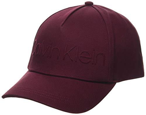 Calvin Klein Cap Gorro/Sombrero, Vino, Talla única para Mujer