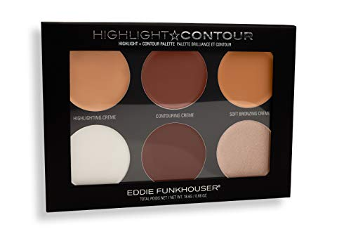 EDDIE FUNKHOUSER Contour and Highlight Palette - Cream and Powder Makeup Kit for Contouring and Highlighting, Cruelty Free and Paraben...