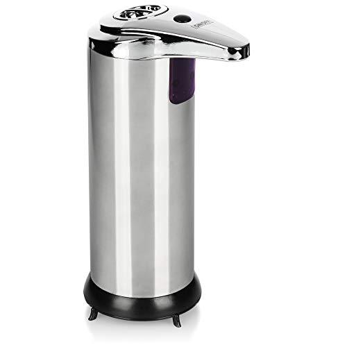 com-four® Dispensador de jabón con Sensor - Dispensador de jabón automático - Dispensador de jabón eléctrico para Gel de Ducha y champú