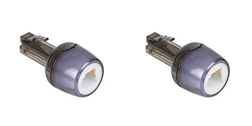KnnX 28119   Telefonhörerkabel-Entwirrer   Verhindert EIN Verdrehen des Kabels zwischen Telefonhörer und Telefon   RJ10 (4P4C)   Packung mit 2 Stück