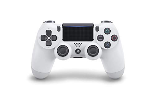 Sony Manette PlayStation 4 officielle, DUALSHOCK 4, Sans fil, Batterie rechargeable, Bluetooth, Glacier White (Blanche)