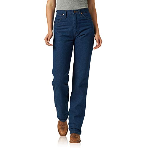 Wrangler Women's Cowboy Cut Slim Fit Natural Waist Jean, Prewash, 1X34