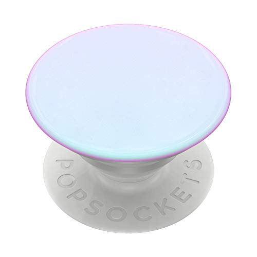PopSockets: PopGrip with Swappable Top for Phones & Tablets - Color Chrome Mermaid White