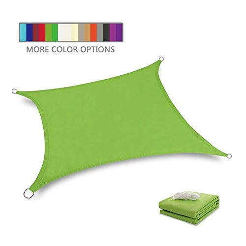 Sun Shade Sail MYAN Outdoor Garden Patio Canopy Awning Waterproof 95% UV Protected (Color : GREEN, Size : 3X6M)