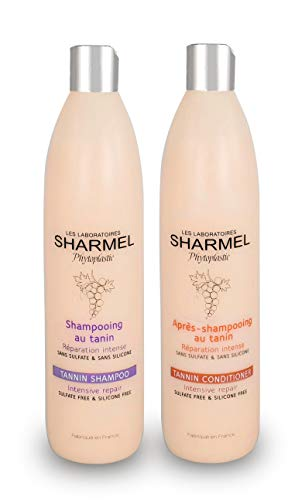 Duo Shampoing + Après-Shampoing au tanin - Sans Sulfate - Sans Silicone - 2 x 500ml - Booster de Lissage (2 x 500 ml)
