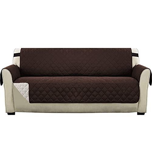 LikeGoods66 - Copridivano, in microfibra, a quadretti, per divani e divani in microfibra, a quadri, per animali domestici e bambini, 4 posti a sedere, 1 pezzo
