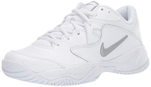 Nike Wmns Court Lite 2, Scarpe da Tennis Donna, Multicolore (White/Metallic Silver/White 101), 36 EU