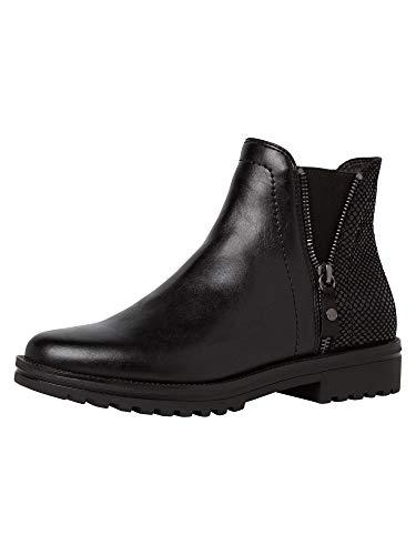 Tamaris Damen Chelsea Boot 1-1-25403-25 001 schwarz normal Größe: 40 EU