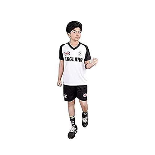 Boy's Football Soccer Kit Kids Sportswear England 10 Print T-Shirt Shorts...