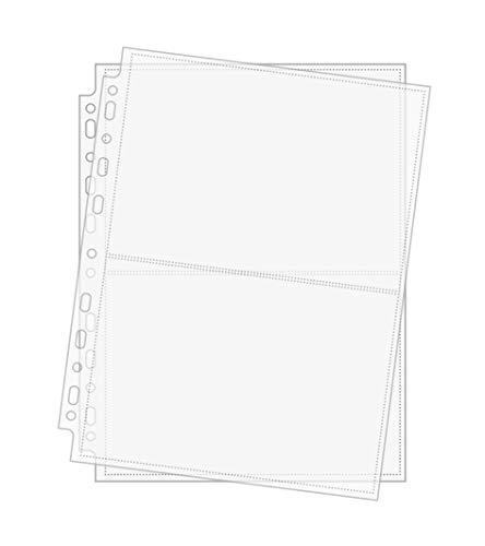 Arkero-G® 50 Seiten 2-Pocket Photo Pages - Foto-Hüllen & Post-Karten Hüllen 2 x A5 quer für Sammel-Album z.B Pokemon XXL Karten, Basteln Schule Büro Aufbewahrung