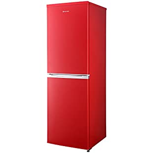 Russell Hobbs Freestanding 173cm Tall Fridge Freezer, A+ Rating, 237 Litre Net Capacity, Red, Reversible Doors, RH54FF170R