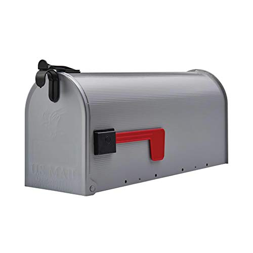 Medium Rural Box Mail Storage Steel Gray - mailboxes for Outside - Large Mailbox.