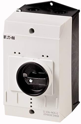 Eaton 219654 Isolierstoffgehäuse CI-K2, H x B x T = 160 x 100 x 130 mm, für Pkz0, Drehgriff, schwarz/grau